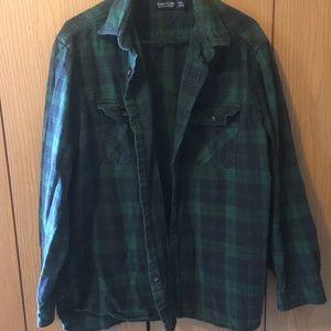 🌼 3/$25 Faded Glory Men's Green Flannel